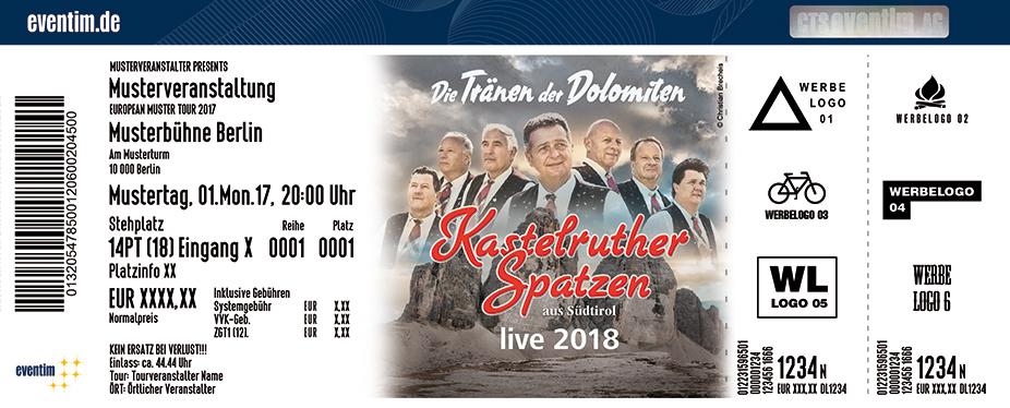 Karten für Kastelruther Spatzen: Die Tränen der Dolomiten - live 2018 in Berlin