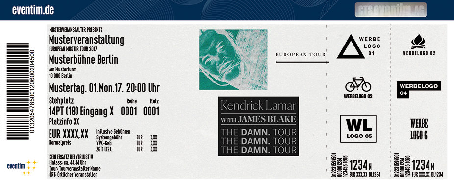 Karten für Kendrick Lamar: THE DAMN. Tour. in Berlin
