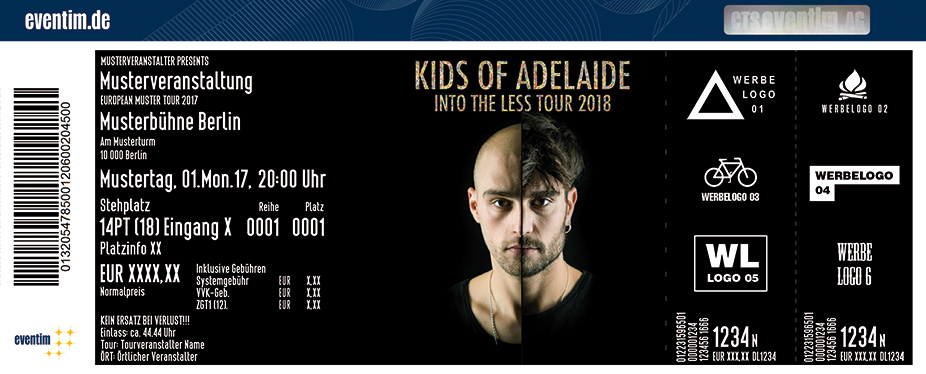 Kids Of Adelaide Karten für ihre Events 2017