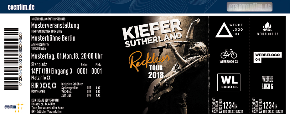 Karten für Kiefer Sutherland: Reckless Tour 2018 in Hamburg