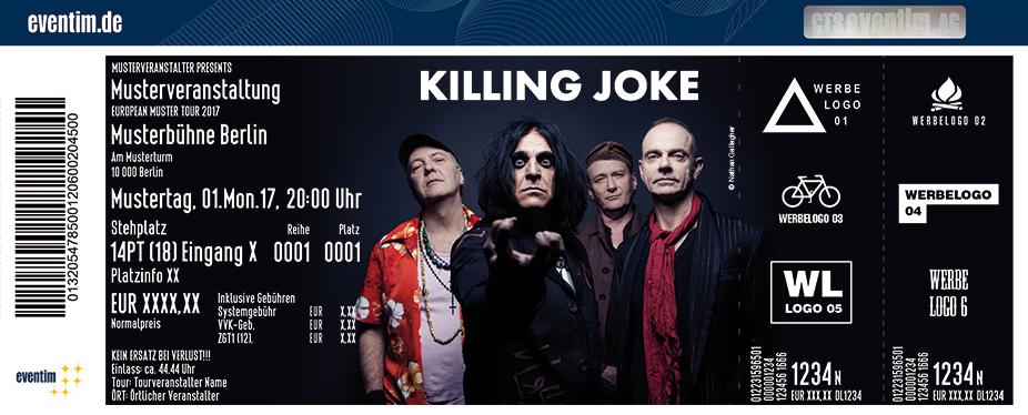Killing Joke Karten für ihre Events 2017