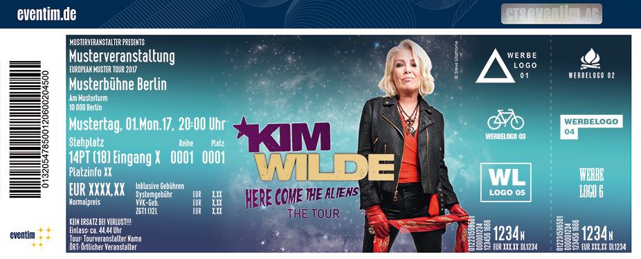 Kim Wilde Karten für ihre Events 2018
