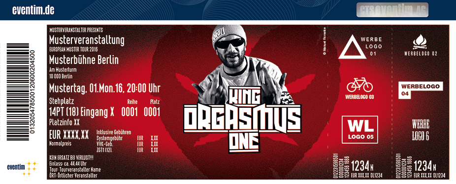 Karten für King Orgasmus One: Berlin bleibt Orgi in Veilsdorf