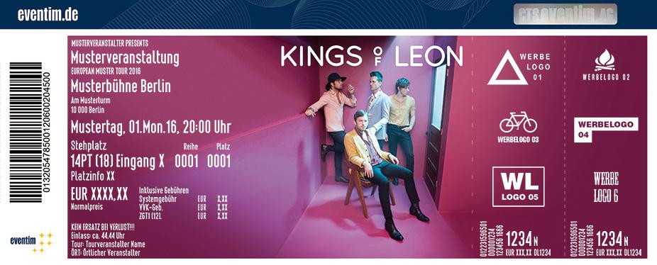 Kings Of Leon Karten für ihre Events 2017