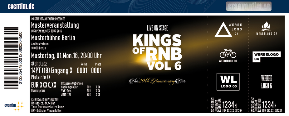 Karten für Kings of RnB Vol. 6 - Ginuwine, 112 & Dru Hill in Hamburg