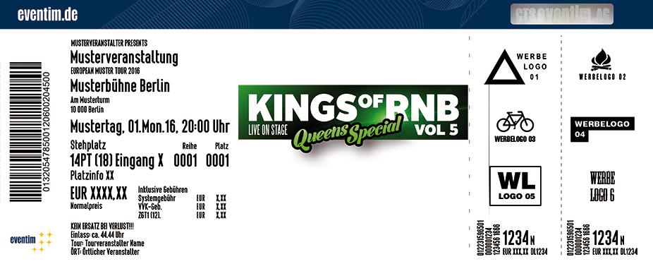 Kings Of R'n'b Karten für ihre Events 2017