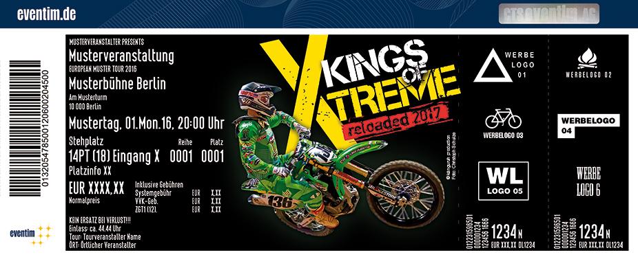 Kings Of Xtreme Karten für ihre Events 2017