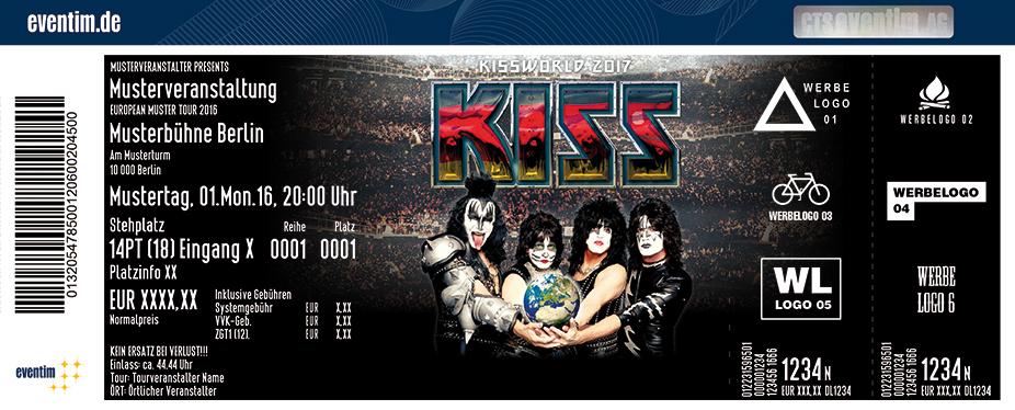 Kiss Karten für ihre Events 2017