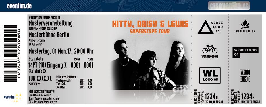 Karten für Kitty, Daisy & Lewis: Superscope Tour in Dresden