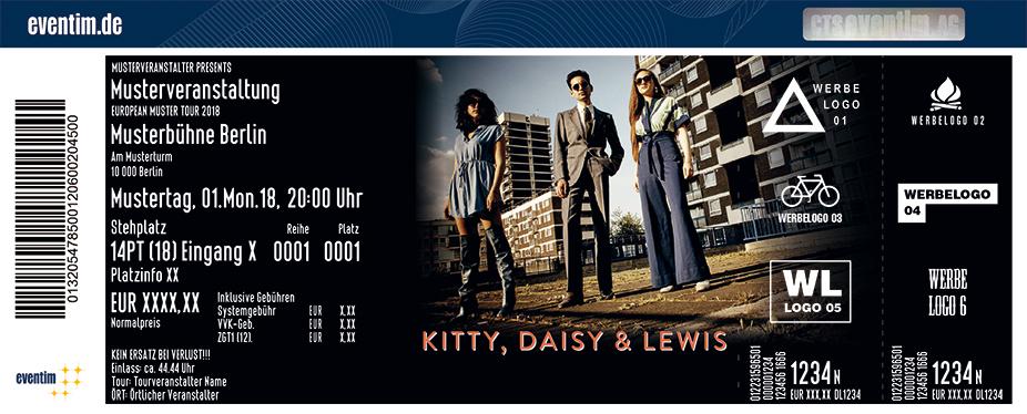 Kitty, Daisy & Lewis Karten für ihre Events 2018