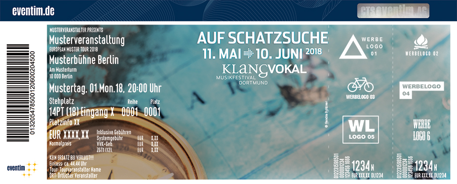 Karten für KLANGVOKAL Musikfestival Dortmund 2018 in Dortmund
