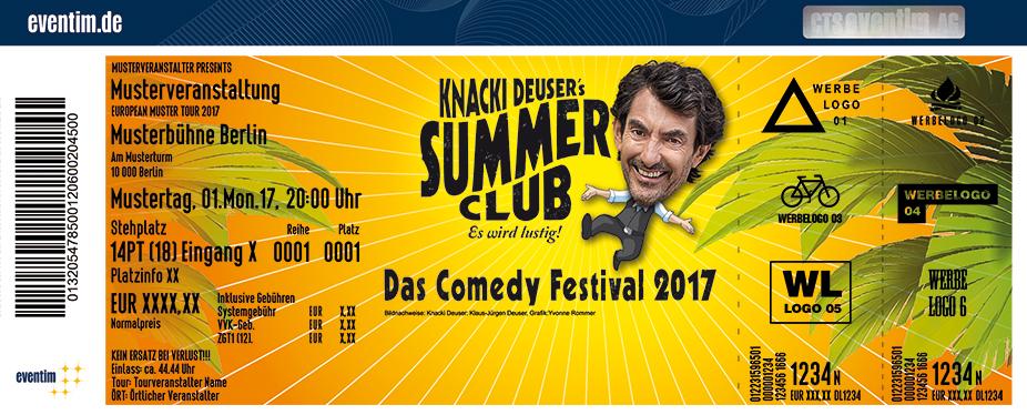 Knacki Deuser's Summer Club Karten für ihre Events 2017