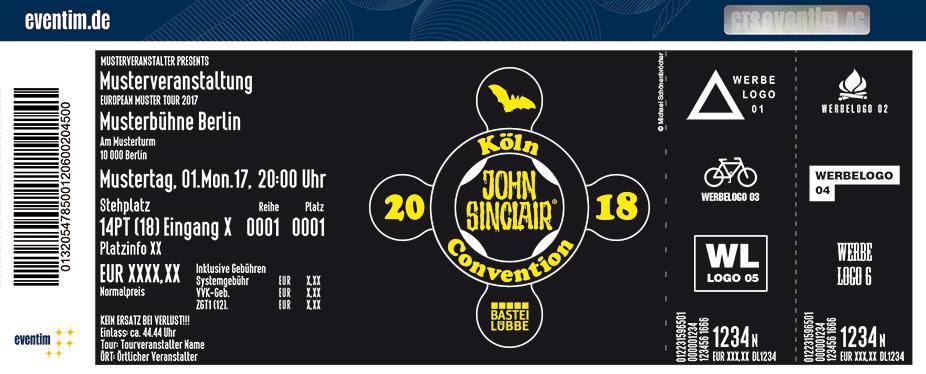 John Sinclair-Convention Karten für ihre Events 2017
