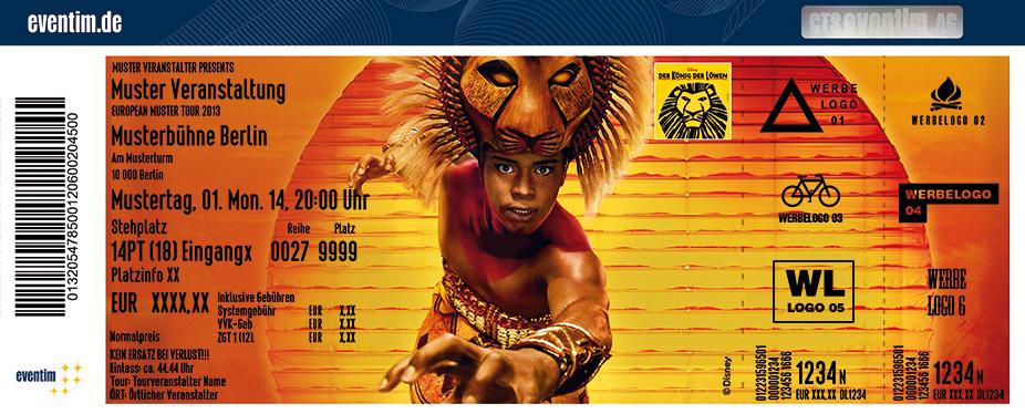 könig der löwen musical gutschein