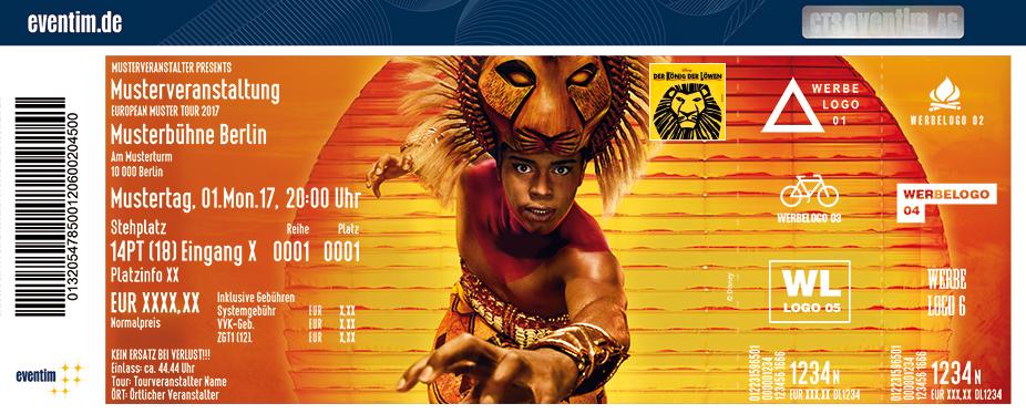 Disneys Der König Der Löwen Karten für ihre Events 2017