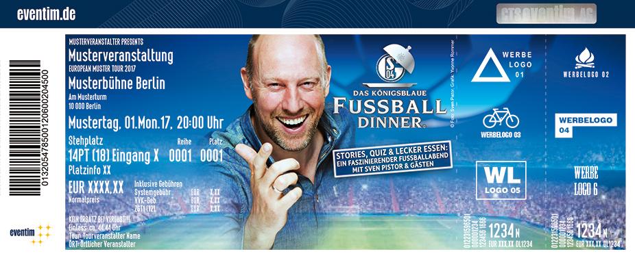 Das Königsblaue Fussballdinner Karten für ihre Events 2017