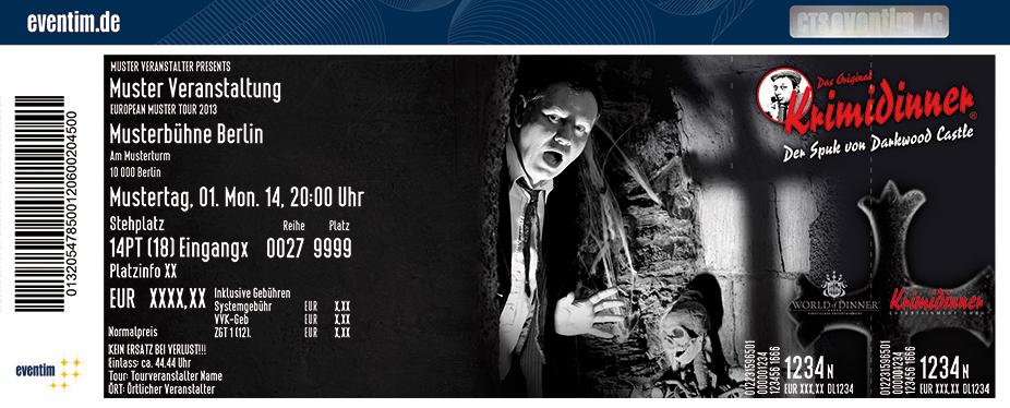Karten für Krimidinner - Das Original: Der Spuk von Darkwood Castle in Bonn