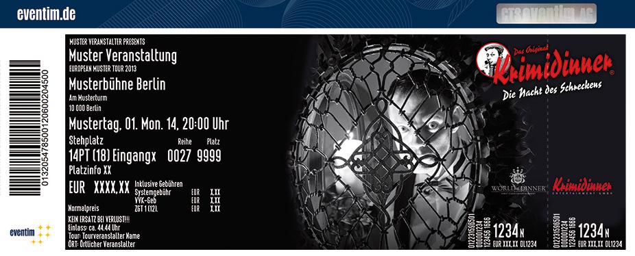 Karten für Krimidinner - Das Original: Die Nacht des Schreckens in Bonn
