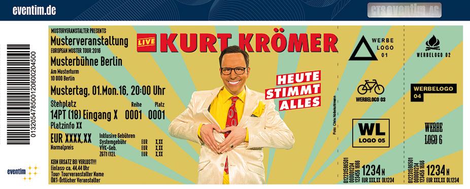 Karten für Kurt Krömer: Heute stimmt alles Tour 2017 in Bielefeld