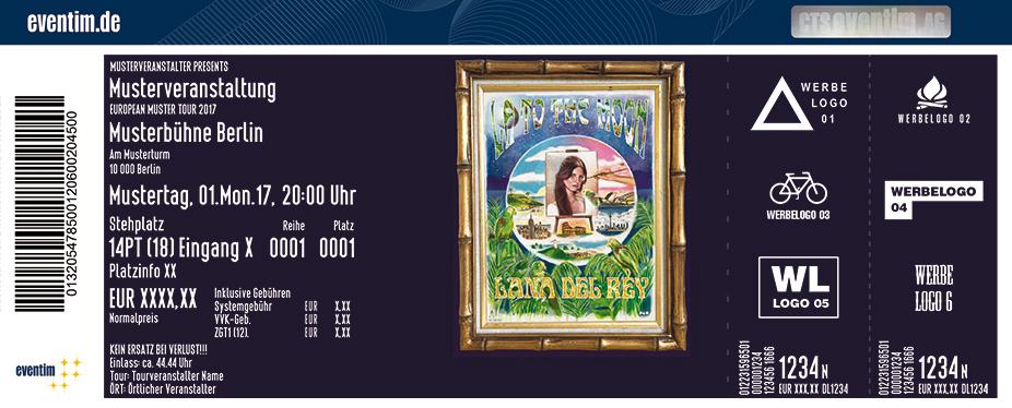 Lana Del Rey Karten für ihre Events 2017