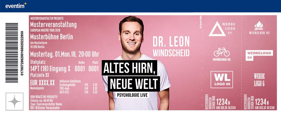 Karten für Dr. Leon Windscheid - Altes Hirn, Neue Welt - PREVIEW in Aachen
