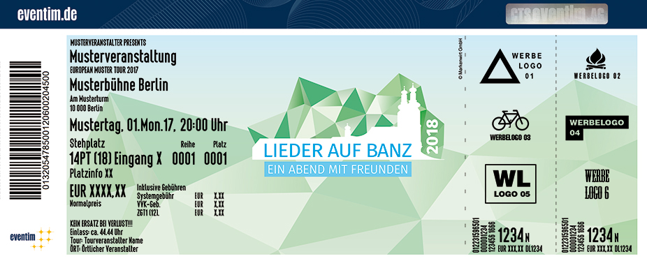 Lieder Auf Banz Karten für ihre Events 2017