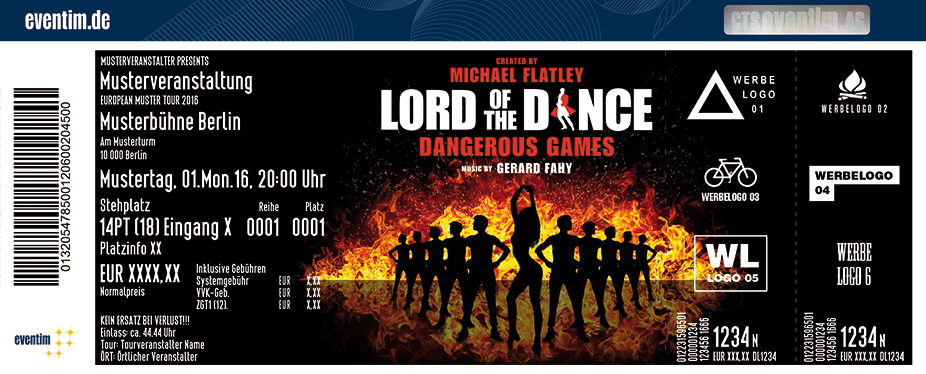 Lord Of The Dance Karten für ihre Events 2017