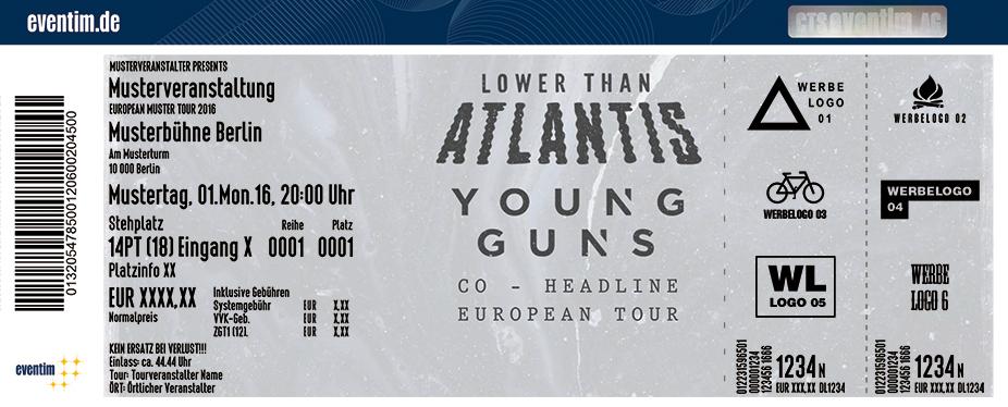 Lower Than Atlantis Karten für ihre Events 2017