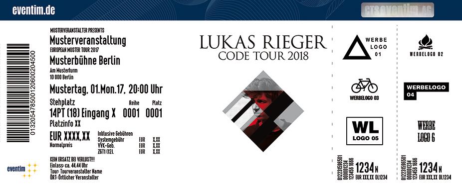 Karten für Lukas Rieger: Code Tour 2018 in Frankfurt
