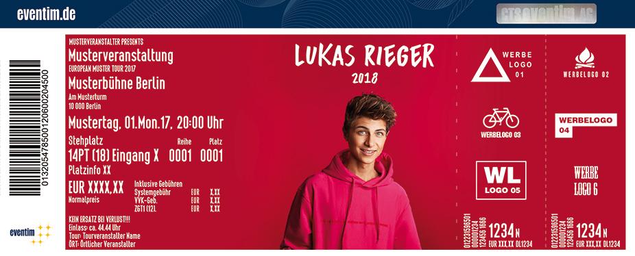 Lukas Rieger Karten für ihre Events 2017