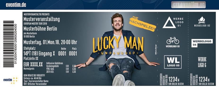 Karten für Luke Mockridge: Lucky Man - unplugged - Die Nachspielzeit in Göppingen