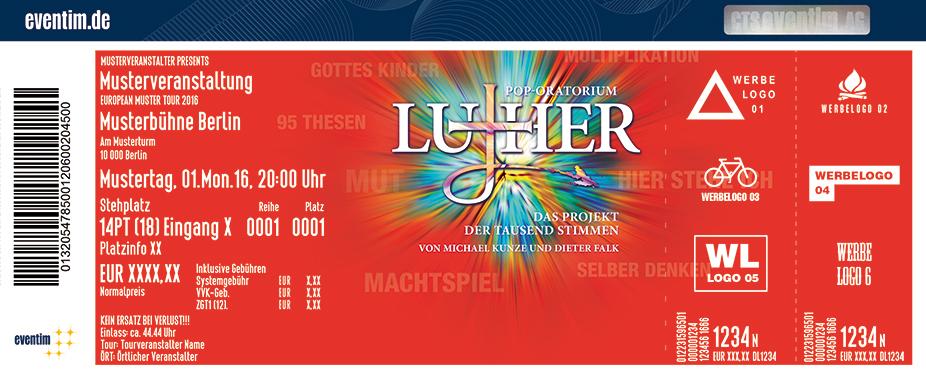 Luther - Ein Pop-Oratorium Karten für ihre Events 2017