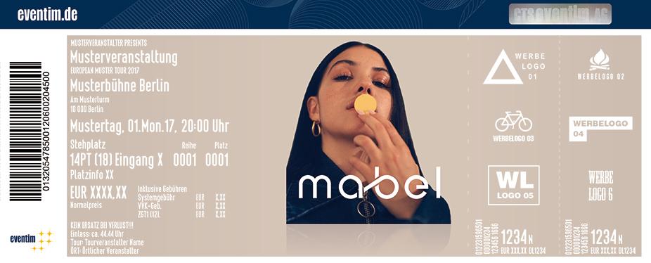 Mabel Karten für ihre Events 2018