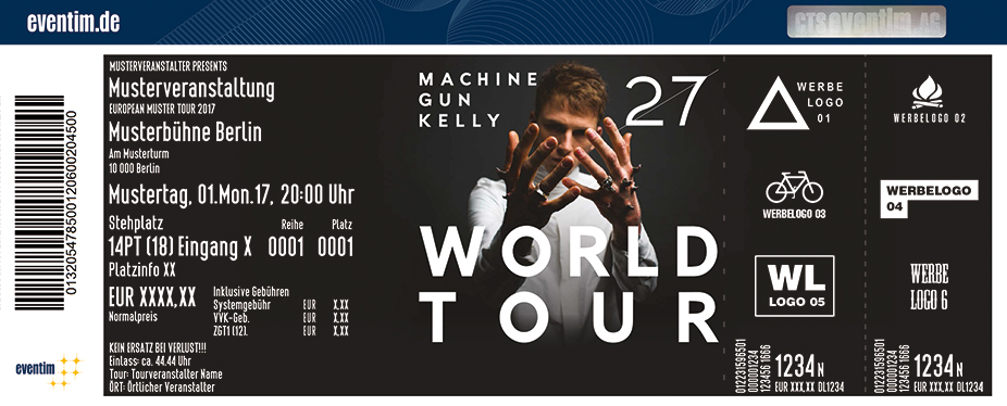 Karten für Machine Gun Kelly - 27 World Tour in Frankfurt
