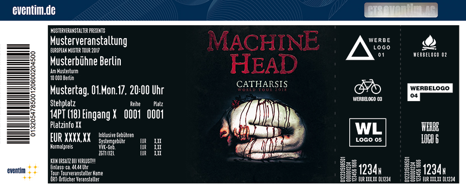 Karten für Machine Head: Catharsis World Tour 2018 in Wien