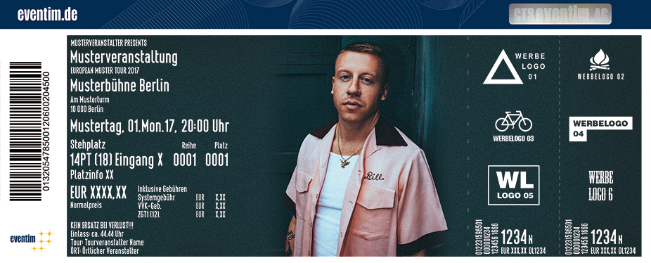 Karten für Macklemore: Gemini Europe Tour in Offenbach Am Main