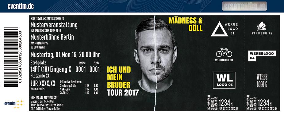 Karten für Mädness & Döll: Ich und mein Bruder Tour 2017 in Hamburg