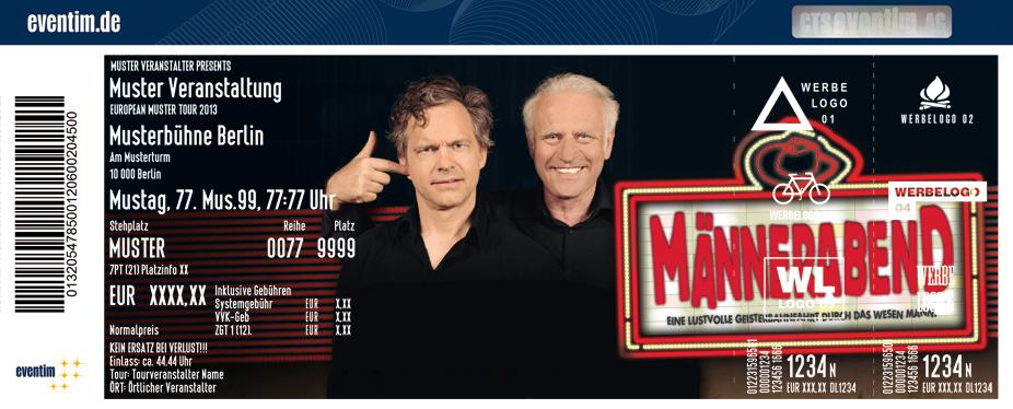 Karten für Männerabend mit Felix Theissen und Roland Baisch in Mainz