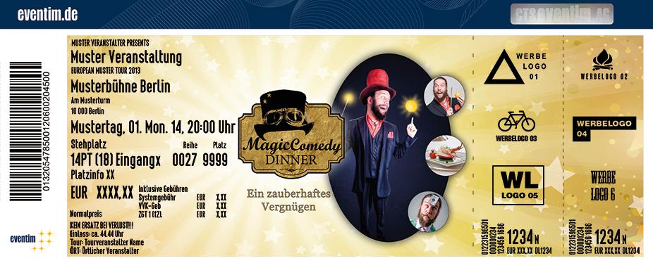 Karten für Magic Comedy Dinner präsentiert von WORLD of DINNER in Kassel