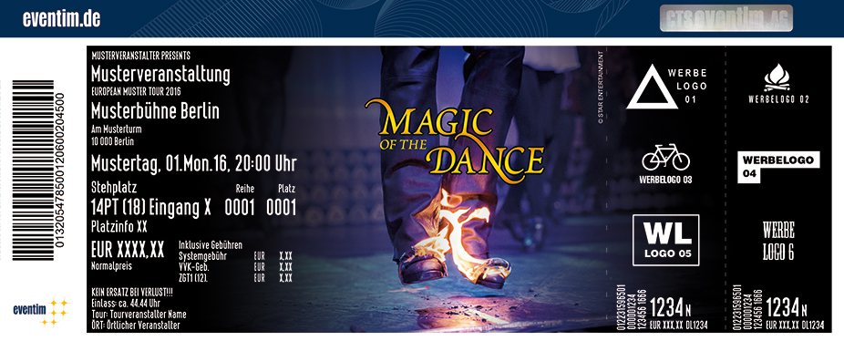 Magic Of The Dance Karten für ihre Events 2017