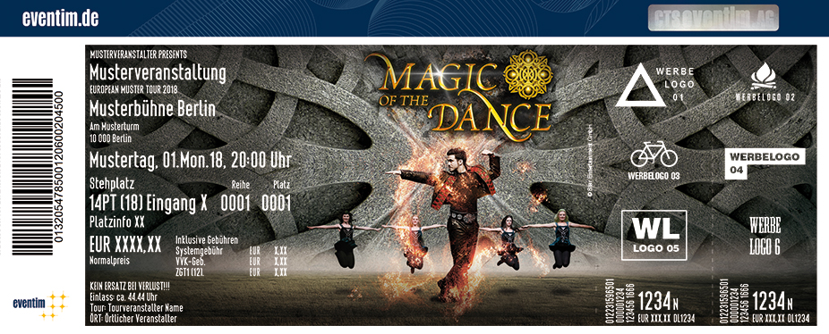 Magic Of The Dance Karten für ihre Events 2018