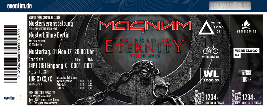 Karten für Magnum: The Road To Eternity Tour 2018 in Memmingen