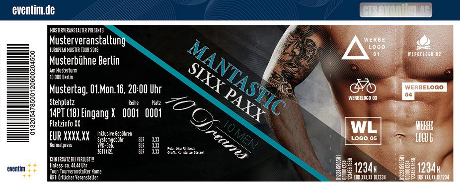 Karten für Mantastic Sixxpaxx: 10 Men - 10 Dreams in Iserlohn