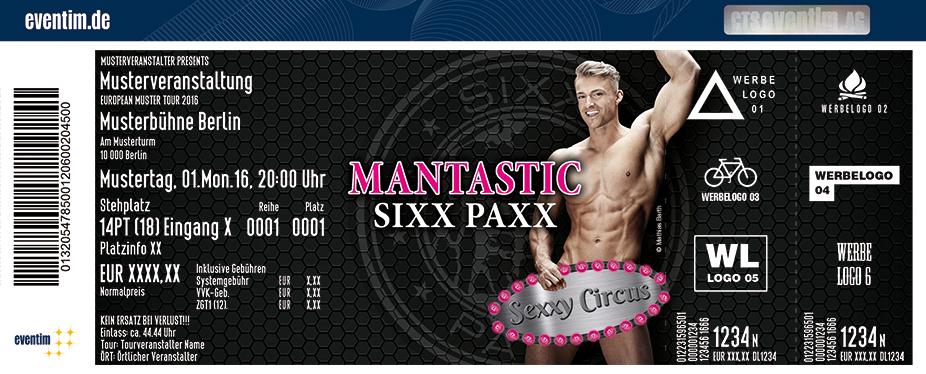 The Sixxpaxx Karten für ihre Events 2017