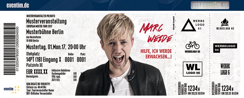 Karten für Marc Weide: Hilfe, ich werde erwachsen! in Delbrück
