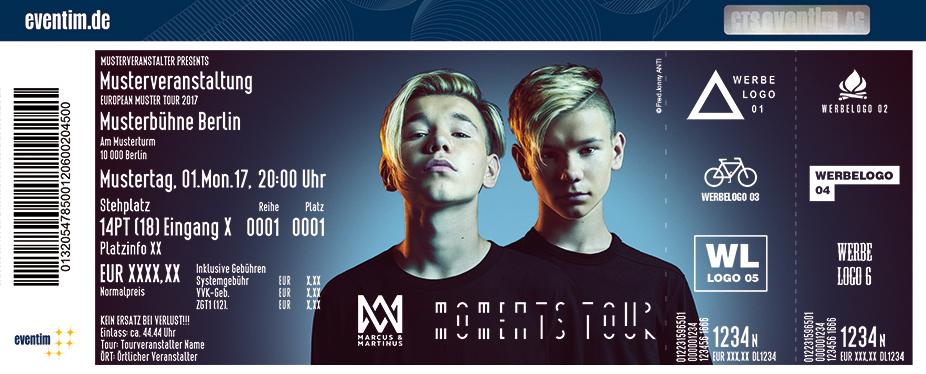 Marcus & Martinus Karten für ihre Events 2018