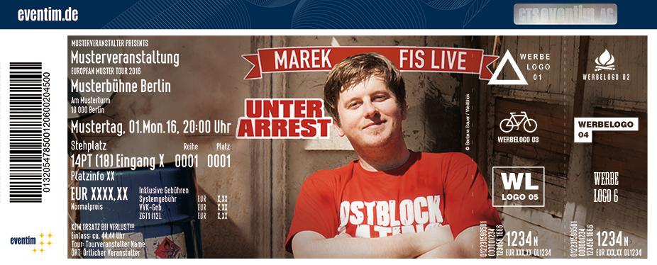 Karten für Marek Fis: Unter Arrest in Karlsruhe