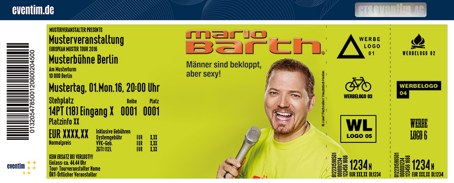 Karten für Mario Barth: Männer sind bekloppt, aber sexy! in Krefeld