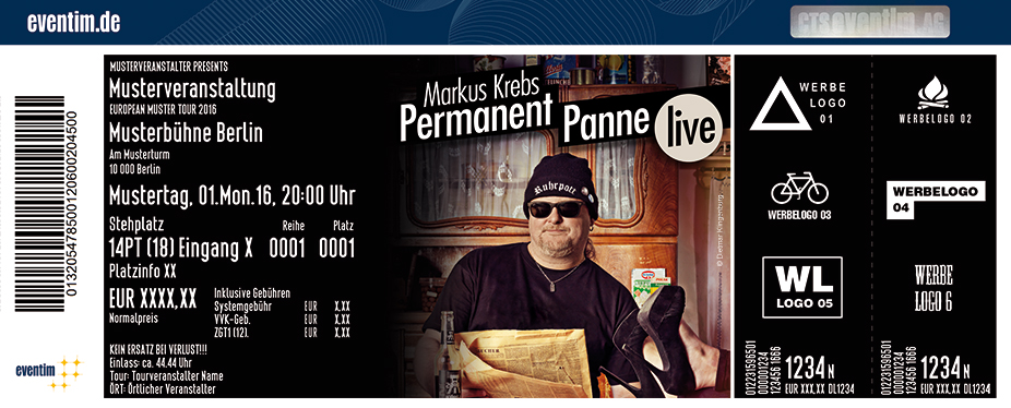 Karten für Markus Krebs: Permanent Panne in Brandenburg / Havel