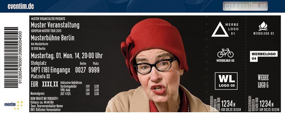 Karten für Marlene Jaschke: Nie wieder vielleicht in Baunatal